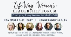 #LifeWayWomen's Leadership Forum This Fall -  We invite you to gather together with other women in leadership for the Women's Forum. Let's challenge one another, hear teaching from God's Word, and walk out equipped to lead!