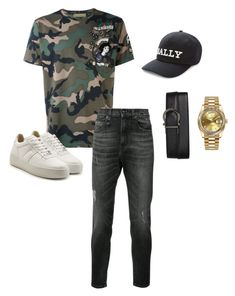 """Untitled #658"" by aintdatjulian on Polyvore featuring Valentino, Maison Margiela, R13, Bally, Salvatore Ferragamo, Rolex, men's fashion and menswear"