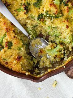 Cheesy Broccoli Quinoa Casserole | Confections of a Foodie Bride  #sponsored
