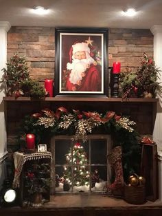Looking for for images for farmhouse christmas tree? Check this out for very best farmhouse christmas tree images. This kind of farmhouse christmas tree ideas seems entirely excellent. Diy Christmas Fireplace, Christmas Mantels, Farmhouse Christmas Decor, Noel Christmas, Country Christmas, Christmas Wreaths, Christmas Crafts, Christmas Budget, Christmas Villages