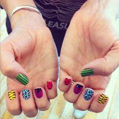 Nails gone wild. #nailart #urbanoutfitters