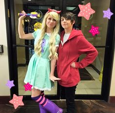Star vs. the Forces of Evil  I wanna watch it so bad!!! Thank god!! I hoped somebody cosplayed at least Star but Marco too!!! (o: