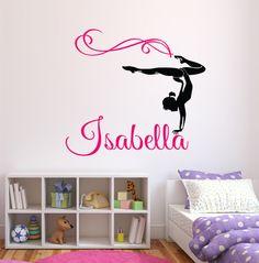 Gymnastics Wall Art gymnast gymnastic,girls bedroom quote, vinyl wall art sticker