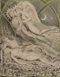 Adam and Eve Sleeping by William Blake, 1808