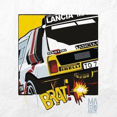 Lancia Delta S4, Automotive Art, Rally Car, Illustrator, Illustration Art, Racing, Posters, Culture, Cars