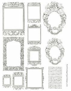 Free Printable - Ornate Frames - FREE Vintage Digital Stamps