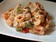 Creamy Tomato Tortellini with Chicken and Broccoli