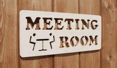 wooden door sign - meeting room 자작나무 도어싸인 - 회의실