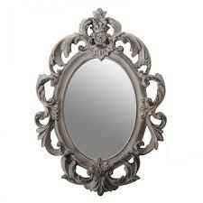 Ornate silver frame long oval by on for Disenos de marcos para espejos grandes