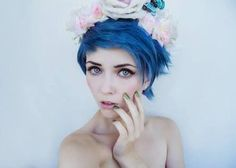 blue dyed pixie cut | Go Back > Gallery For > Short Blue Hair Tumblr
