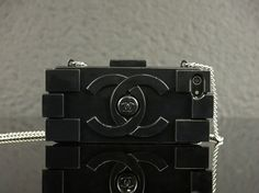 Black Chanel block iPhone 5 case by Thebarbiezcollection on Etsy, $22.50