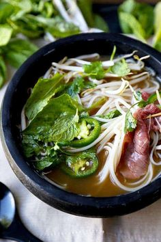 Slurp your noodles with abandon in 30 minutes with this Easy Beef Pho Soup Recipe! A quick, satisfying and full-flavor version of Vietnam's national dish. Easy Beef Pho Soup Recipe - Phở Bò If you try to Vietnamese Recipes, Asian Recipes, Vietnamese Food, Vietnamese Pho Soup Recipe, Healthy Soup Recipes, Cooking Recipes, Beef Recipes, Meatball Recipes, Gastronomia