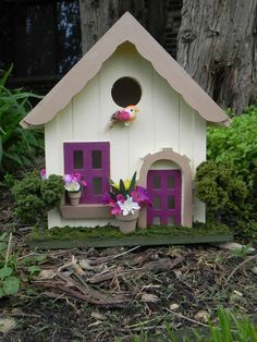 Purple Birdhouse Cottage by LittleDreamscapes on Etsy, $60.00