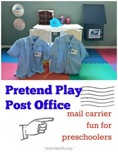 pretend play post office