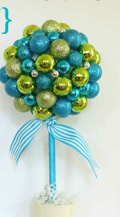 Easy DIY Christmas Crafts - Ornament Topiary