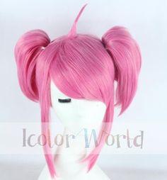 Rosy 40cm LOL Star Guardian Lux Cosplay Wig