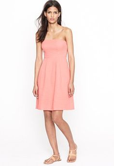 J Crew Strapless Beach Dress - Vibrant Coral