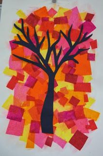 EDUCAÇÃO INFANTIL: ARTE NO OUTONO Fall Arts And Crafts, Autumn Crafts, Autumn Art, Fall Preschool, Preschool Crafts, Autumn Activities, Art Activities, Collaborative Art Projects For Kids, Tree Collage