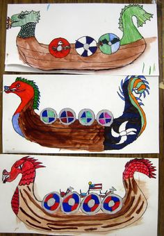 Cassie Stephens: In the Artroom: Grade Viking Ships Art Lessons For Kids, Art Lessons Elementary, Art For Kids, Viking Ship, Viking Art, Vikings For Kids, Horrible Histories, 6th Grade Art, Anglo Saxon