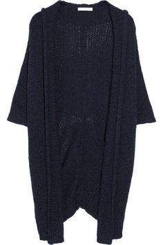 Donna Karan|Casual Luxe draped cotton-blend cardigan|NET-A-PORTER.COM