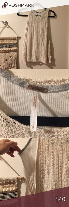 Free people layered knitted women's tank top EUC with small loose thread but no damage. Free People Tops Tank Tops