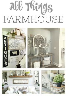 If you love FARMHOUSE, you will love this post! Endless inspiration for all things farmhouse related! Definitely a must pin for the farmhouse lover!