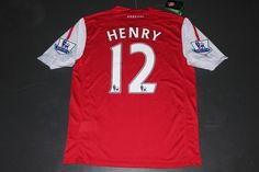 55ae1f784a5 HENRY 12 Arsenal Home red football jersey and shorts