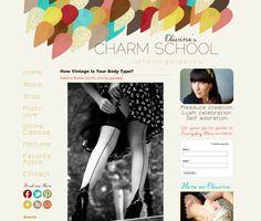 LOVE, LOVE, LOVE this blog header design  Olivines Charm School