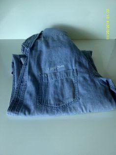Rivers End Jean Work Shirt - Collins Products SZ XL #riversend #ButtonFront