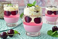 Layered Desserts, Happy Foods, Food Crafts, Aesthetic Food, Mini Cakes, Cakes And More, Food Design, Food To Make, Cake Decorating