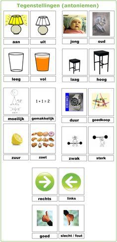 Woordenschat : tegenstellingen (antoniemen) Grammar For Kids, Grammar And Vocabulary, Co Teaching, Creative Teaching, Dutch Phrases, Learn Dutch, Dutch Netherlands, Dutch Language, Exercise For Kids