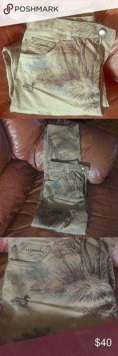 Ralph Lauren mallard duck khaki chinos Mallard duck lake scene hunting pants. Waist - 30, inseam- 28. Ralph Lauren Pants Straight Leg