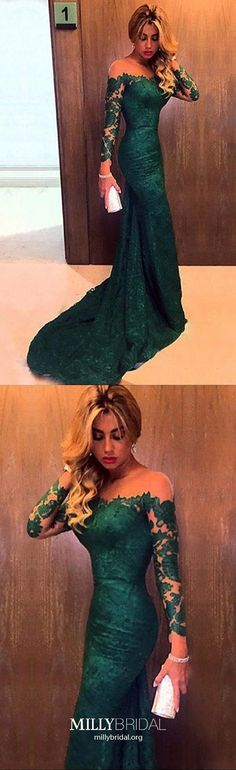 Dark Green Prom Dresses,Long Prom Dresses For Teens,Mermaid Prom Dresses Modest,Cheap Prom Dresses Lace,Tulle Prom Dresses Long Sleeve