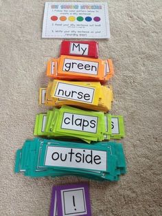 Silly sentence project complete! I can't wait to use this for my word work stations.