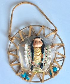 FRIENDS OF THE FEATHER Karen Hahn Angel Dream Catcher Enesco Ornament 1996  | eBay