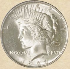 1923 Peace Dollar obverse    VAM-1-O Bar Wing