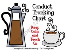 Conduct Tracking Chart from The Kennedy Korral on TeachersNotebook.com -  (4 pages)  - Conduct Tracking Chart and Directions