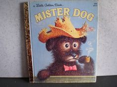 Vintage 1980's A Little Golden Book  Mister Dog by 20thCenturyCool