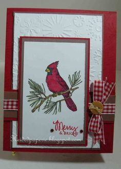 My first Cardinal card for Sketch and MMTPT68