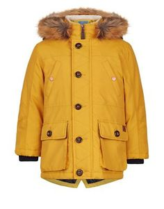 ZARA BROWN PARKA MUSTARD JACKET BLOGGERS RPR EUR119 COAT SIZE