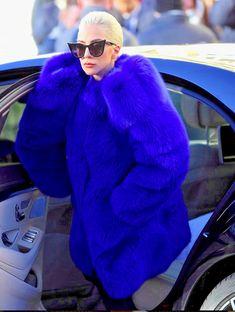 25k *SAINT LAURENT* Outstanding Showpiece Blue Fox Fur Coat NWT FR 36 #SaintLaurent #Coat