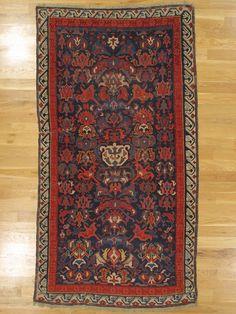 "Bidjow rug,Kuba District,Eastern Caucasus,circa 1875, 7'.5""x4'.1"" (226x124 cm)."