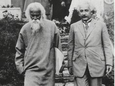 Rabindranath Tagore with Albert Einstein..