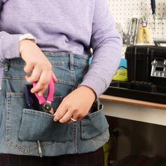 Upcycled Denim Tool Belt