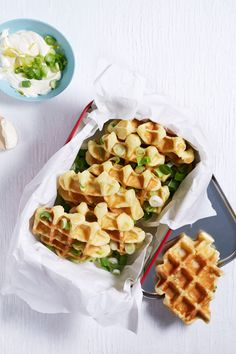 Waffle Recipes, Snack Recipes, Good Food, Yummy Food, Food Crush, Fabulous Foods, Fall Recipes, I Foods, Tapas
