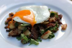 Confit duck hash for Sunday breakfast