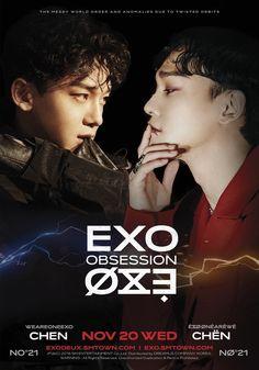 exo chen vs x-exo chen // Exo Chen, Baekhyun Chanyeol, Exo K, Lay Exo, Kpop Exo, Luhan And Kris, Motion Poster, Kim Jong Dae, Exo Album