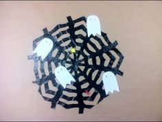 How to Make a Spiderweb for Halloween using a Trash Bag - YouTube