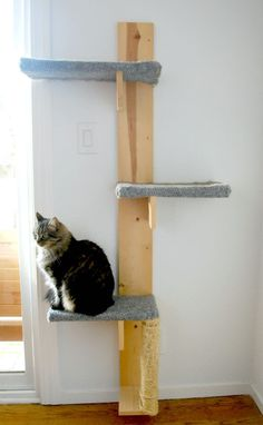 Build a Cat Tree With These Free Plans: DIY Cat Tree from The Silly Pearl