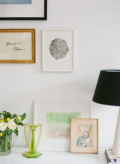 styled gallery wall and console by coco kelley